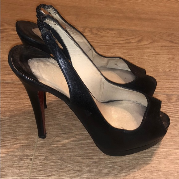 buy online 6bb25 4884f Authentic Louboutin slingback heels. Size 36 1/2.